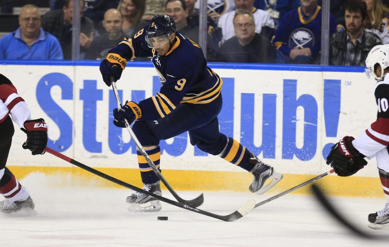 Evander Kane led the Sabres with 28 goals this season (Harry Scull Jr./Buffalo News).