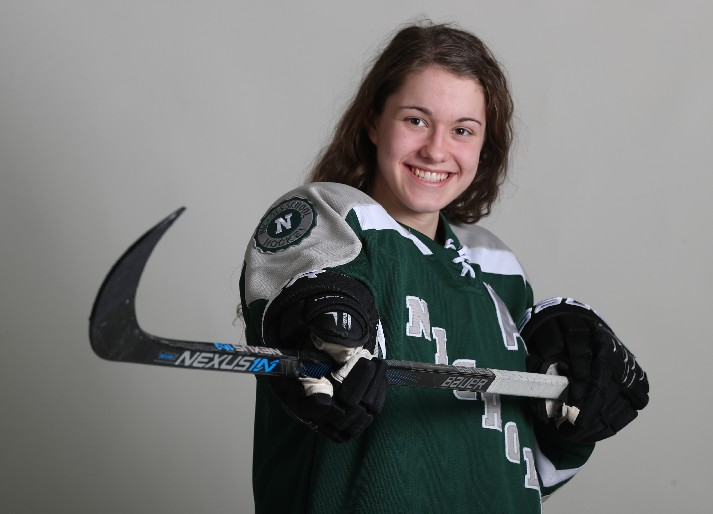 The 2016-17 Prep Talk Player of the Year for girls hockey, Katy Knoll of Nichols, earned a spot on the United States Under-18 team that will play for the world championship in January. (James P. McCoy/Buffalo News file photo)