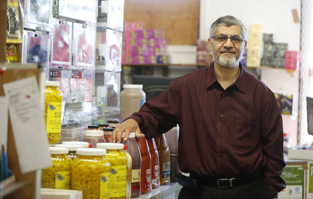 Mohamed T. Albanna,  owner of AB&S Wholesale on Clinton Street, is running for Lackawanna City Council despite being convicted in 2006 of illegally sending $5.5 million to Yemen.   (Mark Mulville/Buffalo News)