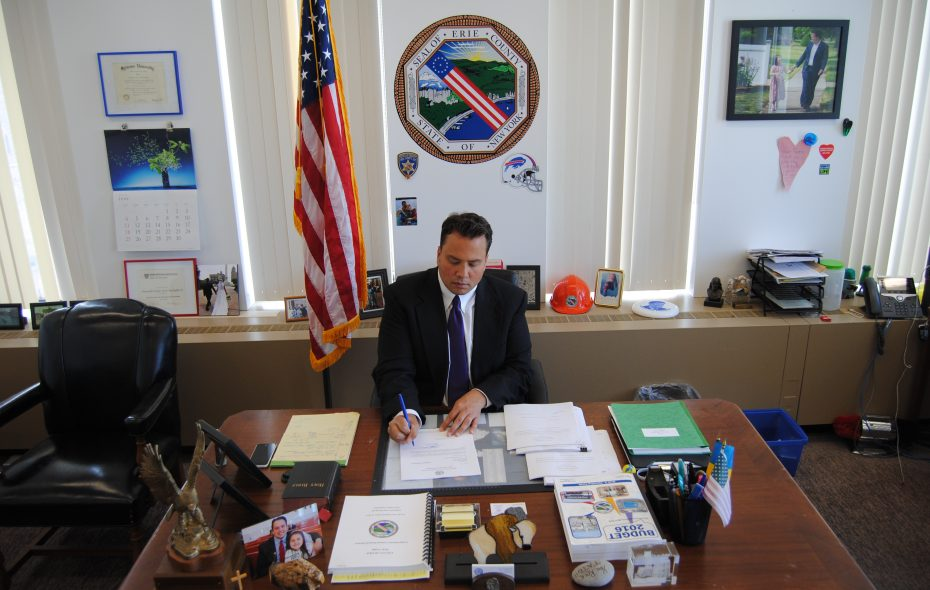 Stefan Mychajliw in his office. (Photo provided by the Comptroller's Office)