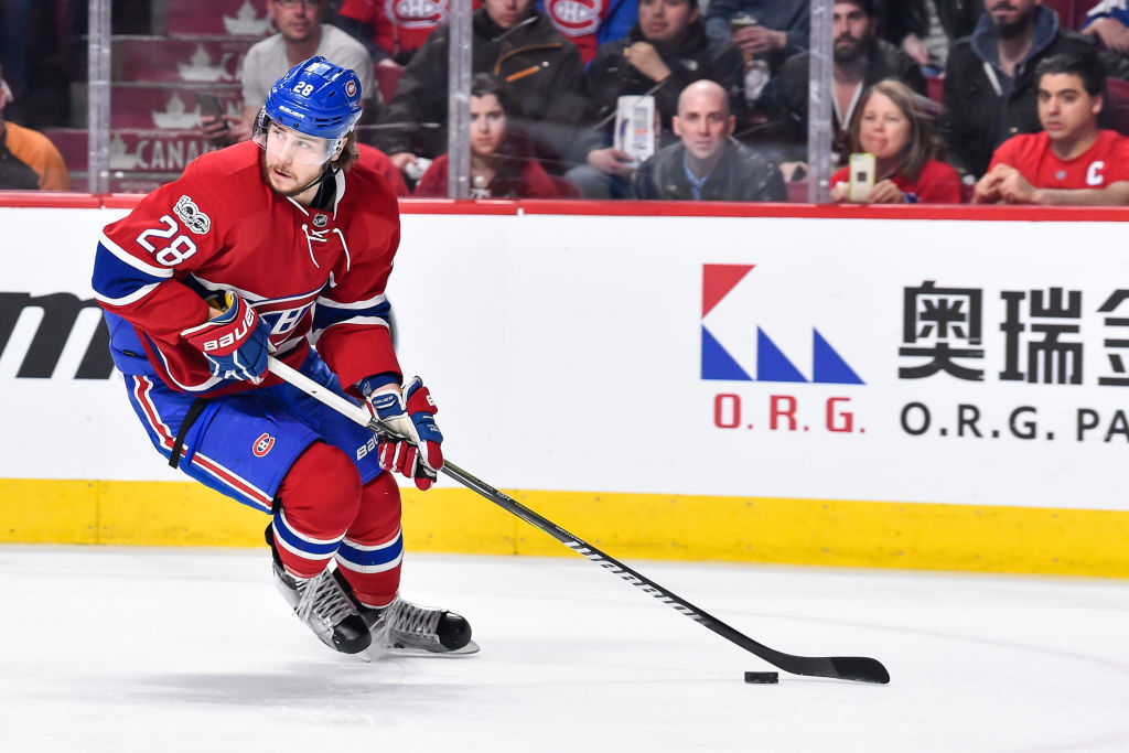 Nathan Beaulieu had four goals and 24 assists in 74 games for the Canadiens last season (Getty Images).