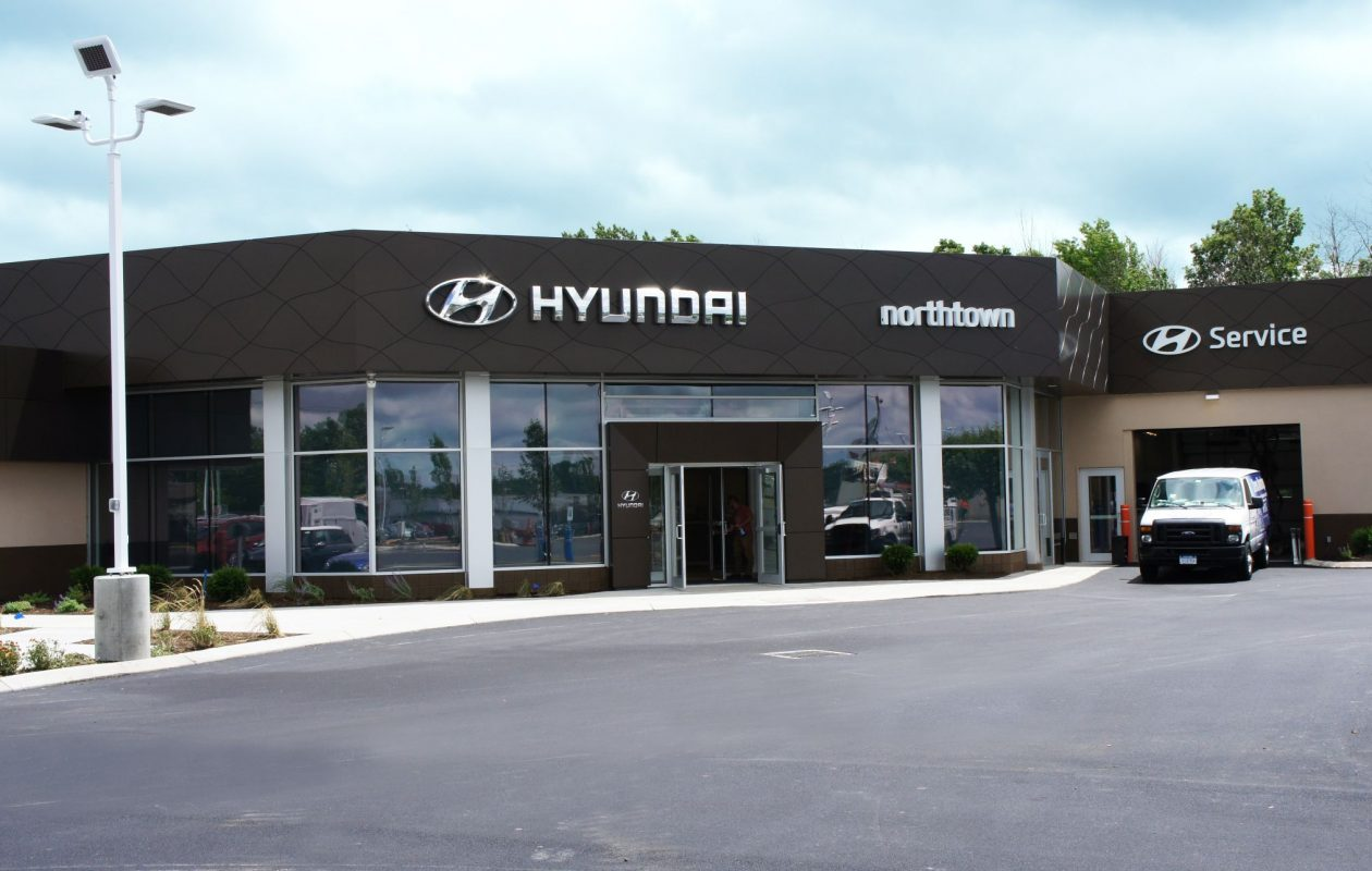 View of the exterior of the recently renovated Northtown Hyundai dealership, 3675 Sheridan Drive, Amherst. (Luke Schnell of Northtown Hyundai/Special to The News)