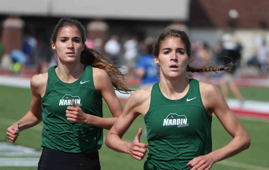 Danielle Orie (right), and her twin sister Gabrielle, will race against each other at the Ivy League Championships later this week. (James P. McCoy/The Buffalo News)