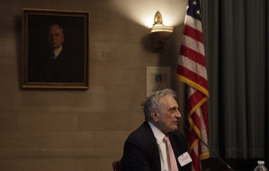 Carl P. Paladino takes the stand at his removal hearing. (Mike Groll/Special to the News)