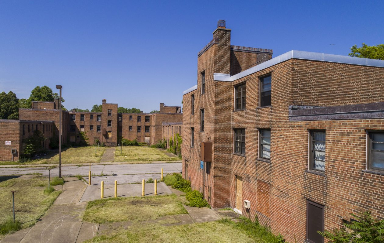 After more than a decade of inaction by the BMHA on its promise to demolish and replace vacant buildings at the Commodore Perry housing complex, the proposal to seek private money offers a way forward. (Derek Gee/Buffalo News)