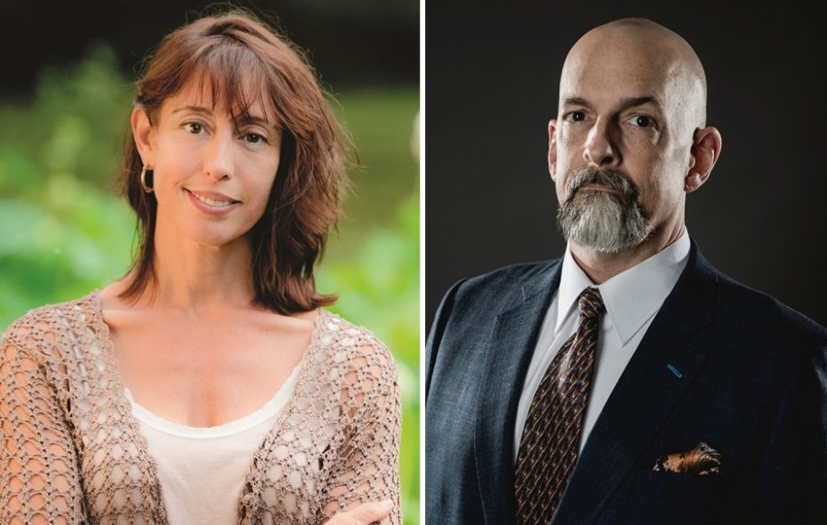 Nicole Galland and Neal Stephenson (Photos by Eli Dagostino and Brady Hall)