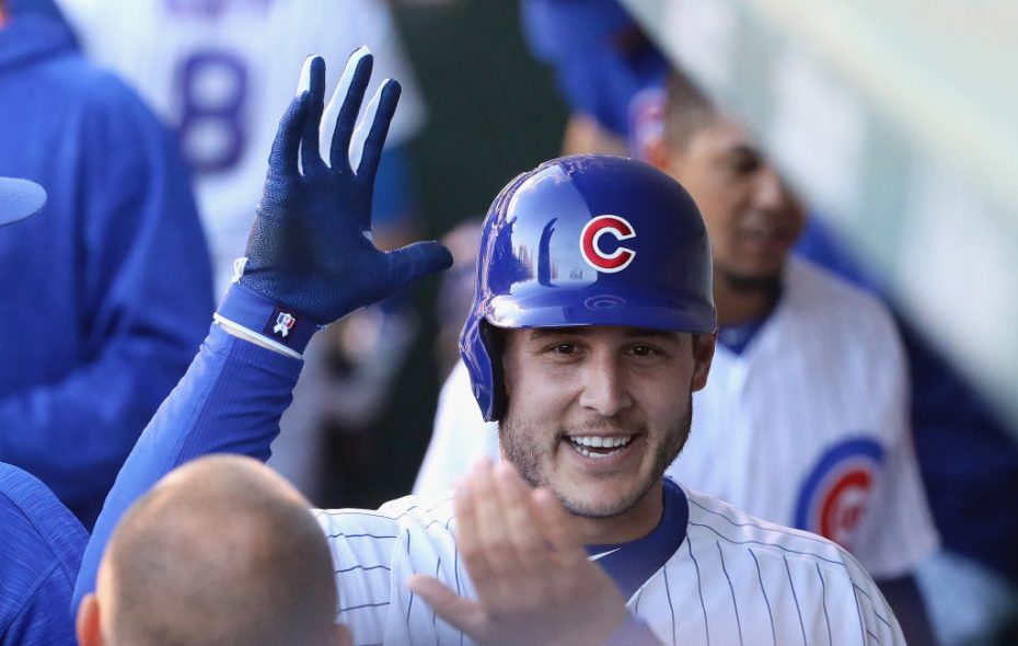 Anthony Rizzo will try to help the Chicago Cubs get back to the World Series. (Getty Images).