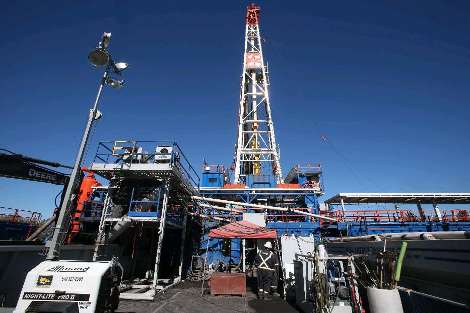 Environmental advocates and some in the state legislature want the state Department of Environmental Conservation to ban importation of fracking waste from neighboring states like this hydraulic fracturing site in Pennsylvania. (Buffalo News file photo)