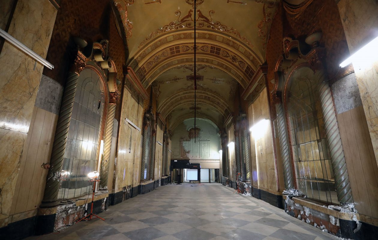 The once-magnificent entry of the old Shea's Seneca Theatre will be restored. (Mark Mulville/Buffalo News)