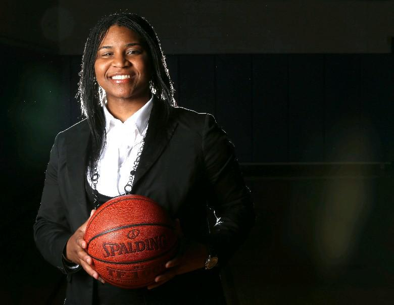 'It's a good opportunity to get girls involved and motivated,' 716ers owner and former WNY high school and college basketball standout Tawan Slaughter says of a summer basketball program for girls ages 7 to 10 she will help lead with Rachelle Matthys. (Robert Kirkham/Buffalo News file photo)