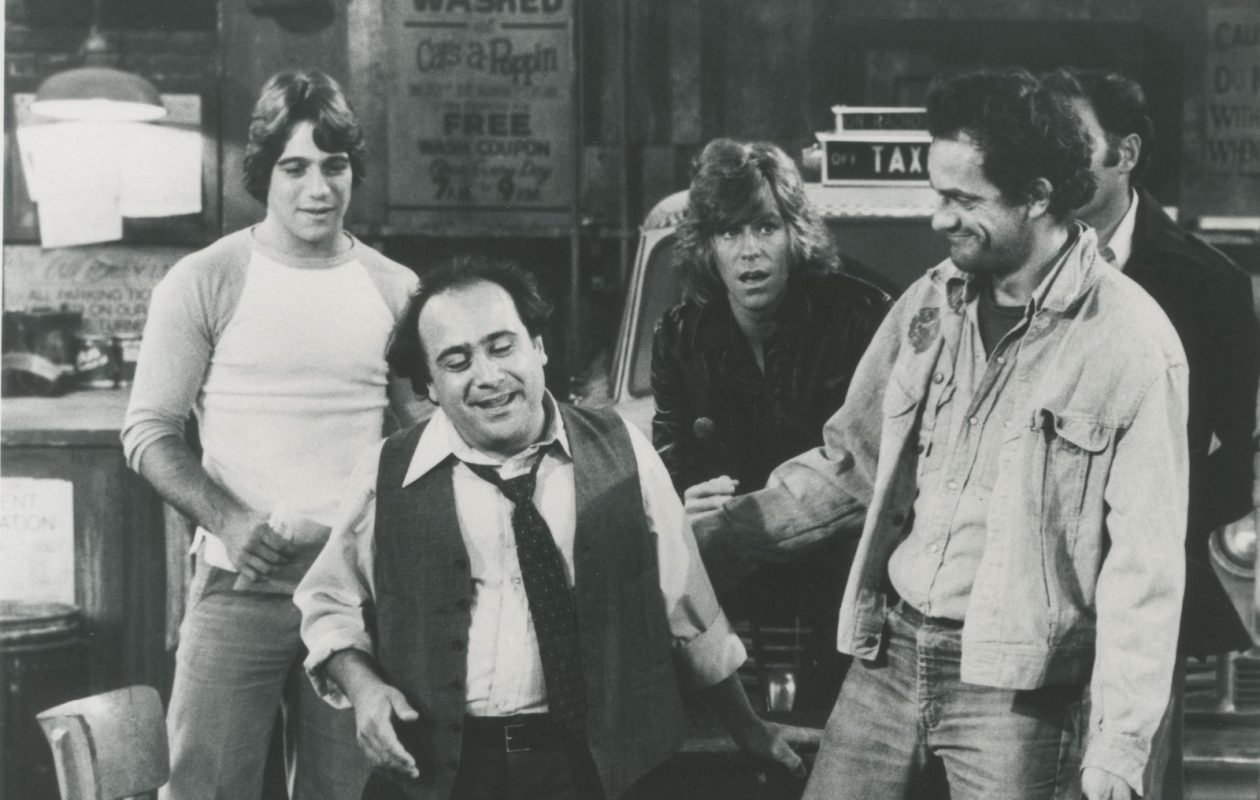 Tony Danza, Danny DeVito, Jeff Conaway and Christopher Lloyd in 'Taxi.' (News file photo)