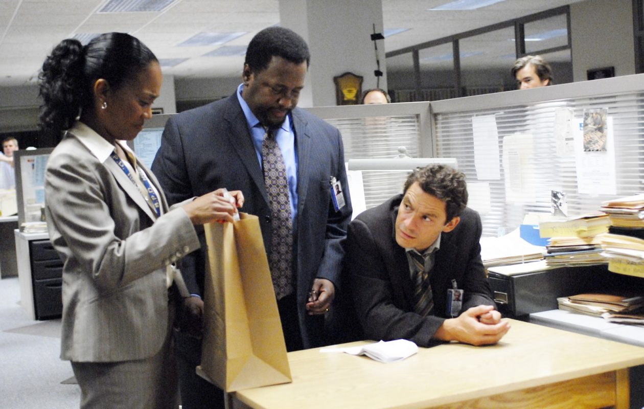 Sonja Sohn, Wendell Pierce, Dominic West in 'The Wire.' (Nicole Rivelli)