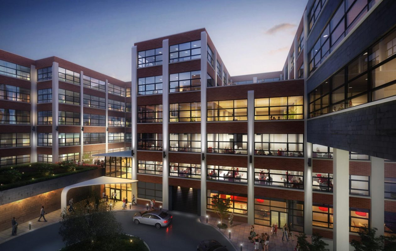 Plans for the Trico building include a dramatic interior courtyard.
