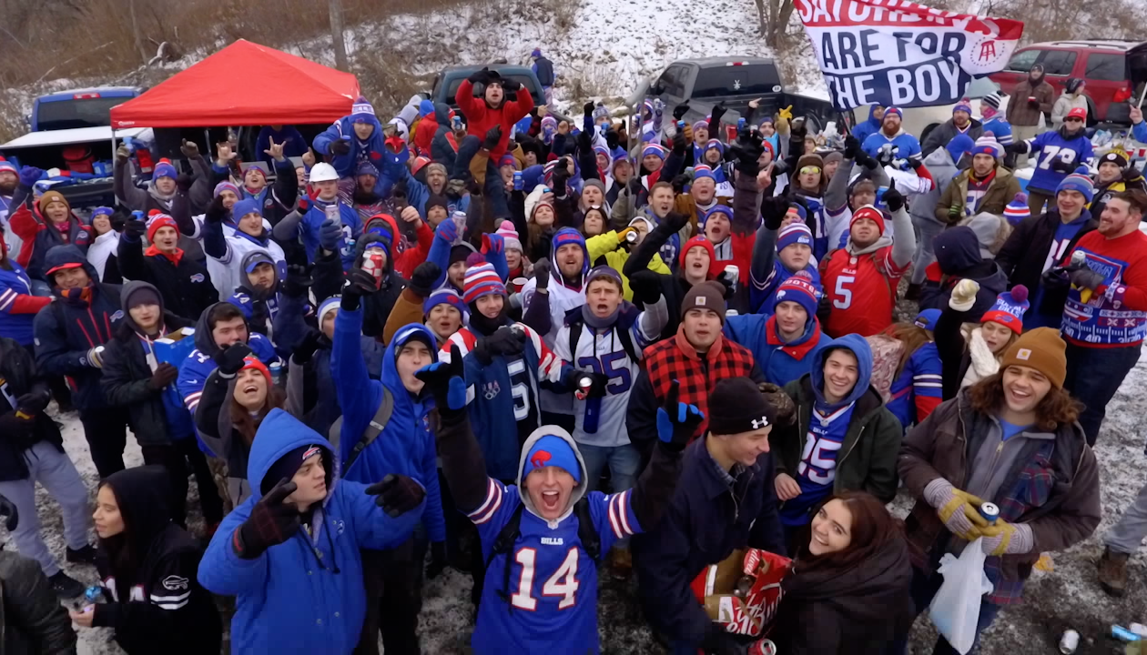 Barstool Sports came out with a mini-documentary on Bills Mafia Tuesday. (Screenshot courtesy of Barstool Sports)