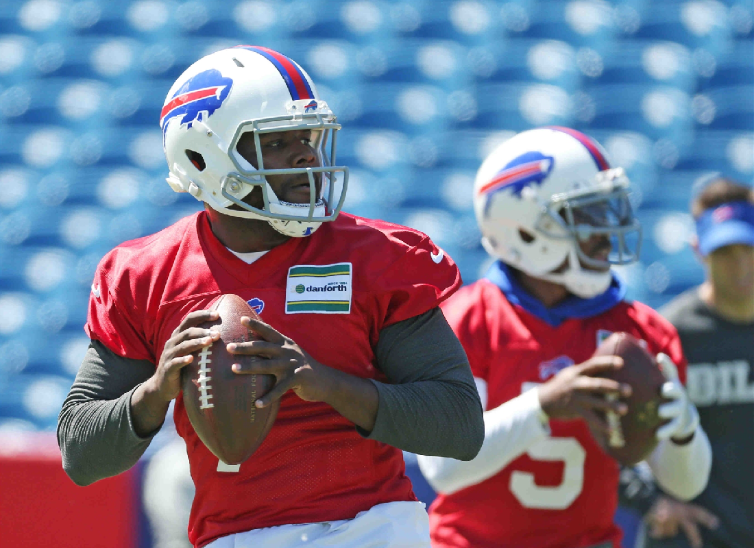 Cardale Jones faces an uphill battle in the competition at quarterback for the Buffalo Bills. (James P. McCoy/Buffalo News)