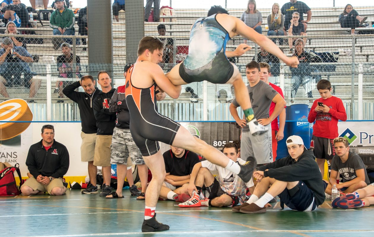 Connor Day of Iroquois and Ryan Stencel of Lancaster were among the participants in the inaugural Ilio DiPaolo Nickel City Duals on Saturday at Buffalo RiverWorks,