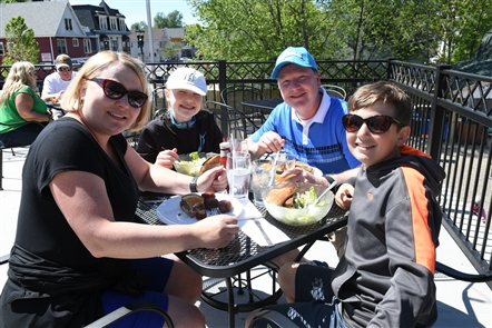 Smiles at Blackthorn's patio opening