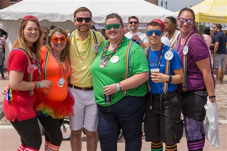 Smiles at Pride Festival 2017 at Canalside
