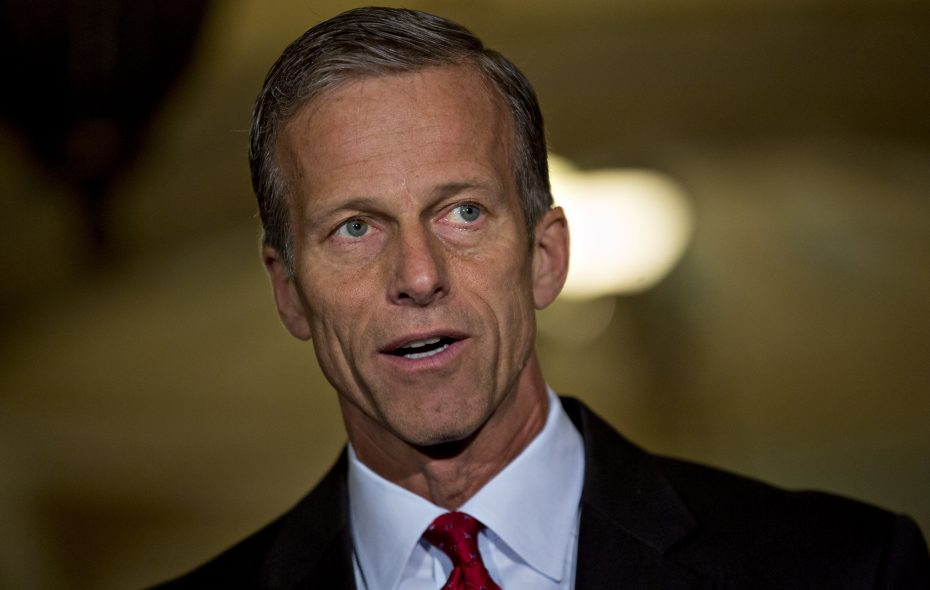 Sen. John Thune, R-S.D., after a Senate luncheon meeting at the U.S. Capitol in Washington on May 10, 2016. (Bloomberg photo by Andrew Harrer)