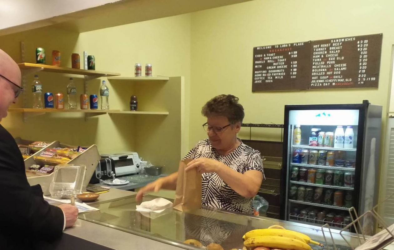 Luba Levin is retiring after 27 years at 135 Delaware Ave. (Howard Goldman)
