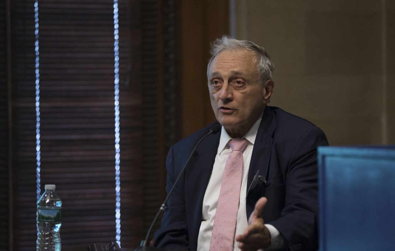 Carl Paladino testifies at the State Education Building on Tuesday in Albany. (Mike Groll/Special To The News)