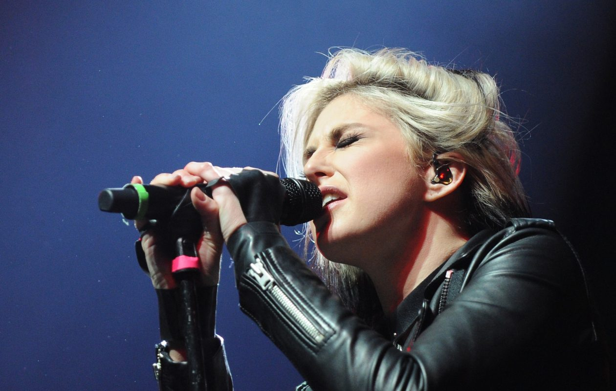 Phantogram, featuring Sarah Barthel, will perform at the Town Ballroom.  (Getty Images)