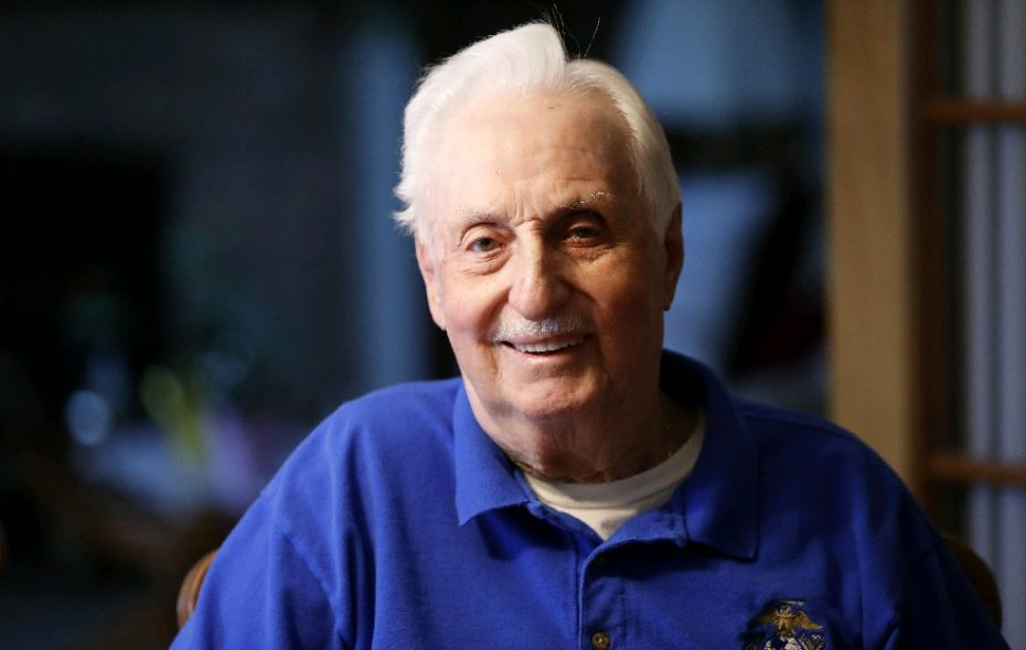 The horrors he witnessed during close-quarters combat in the Korean War turned Marine James E. Pickard prematurely gray and prompted him to abandon plans for a long military career.  (Mark Mulville/Buffalo News)