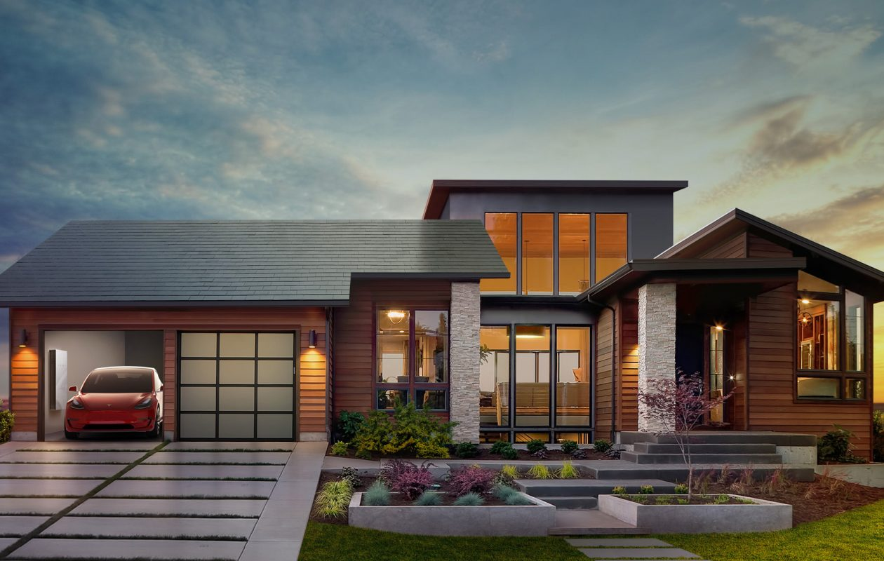 A Tesla executive told an analyst that the company has 'sold out' of its solar roof orders. (Rendering courtesy SolarCity)
