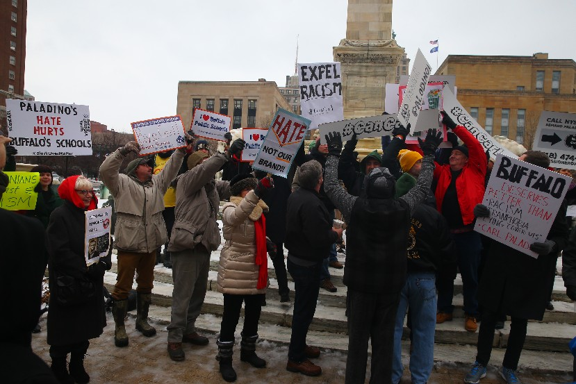 Many of the groups that have protested against Carl Paladino will be in Albany, as will some of his defenders, as the state education commissioner opens a hearing today on whether he should be removed from the Buffalo School Board. (John Hickey/Buffalo News file photo)