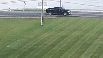 Video still of suspect vehicle in hit-and-run provided by New York State Police .