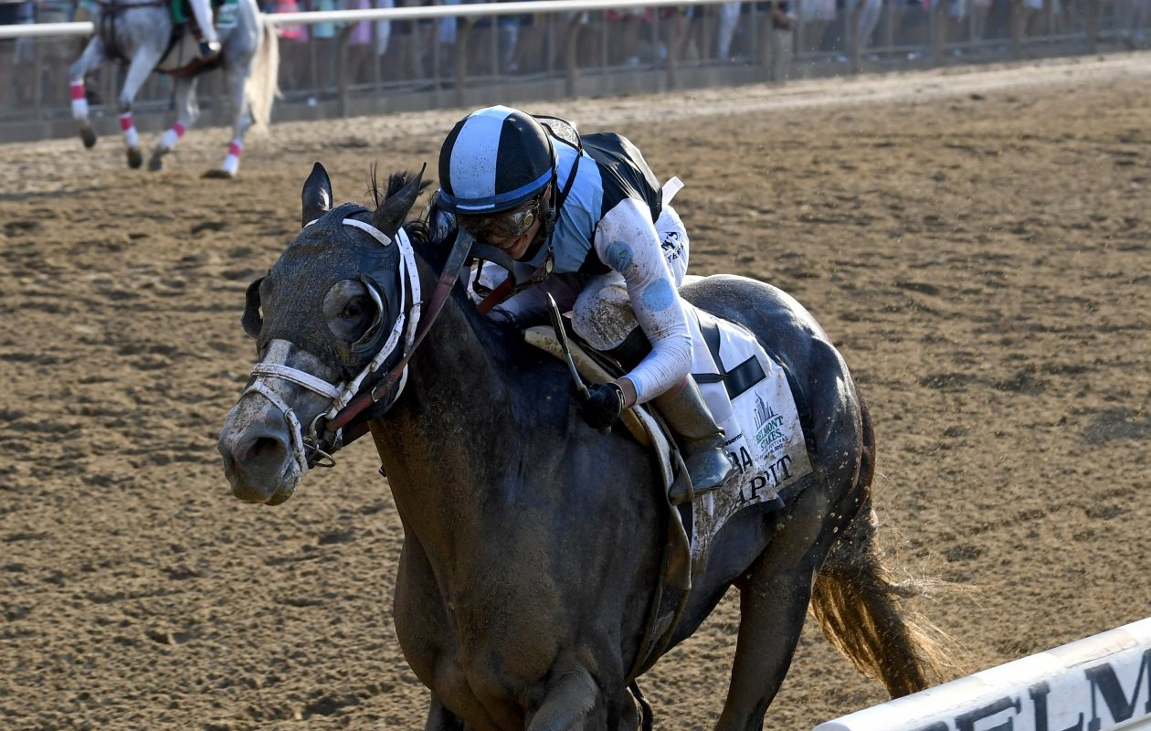 Tapwrit wins the 149th Belmont Stakes. Photo Credit: Chelsea Durand/NYRA