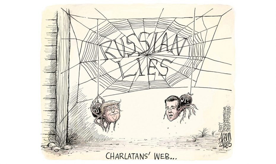 Adam Zyglis: Trump and Jr.