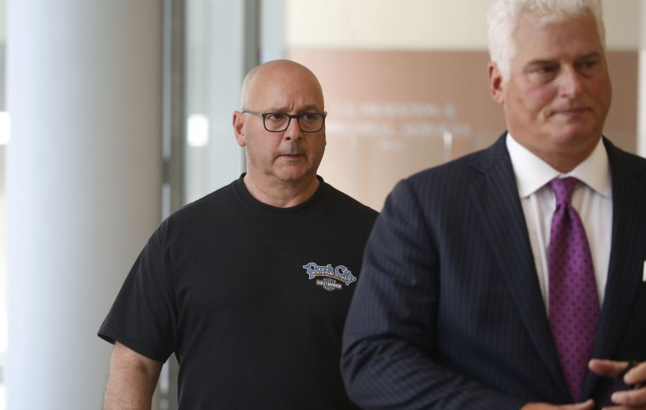 A News file photo from September 2016 shows Louis P. Ciminelli, left, leaving federal court with his attorney Daniel C. Oliverio. (Robert Kirkham/Buffalo News)
