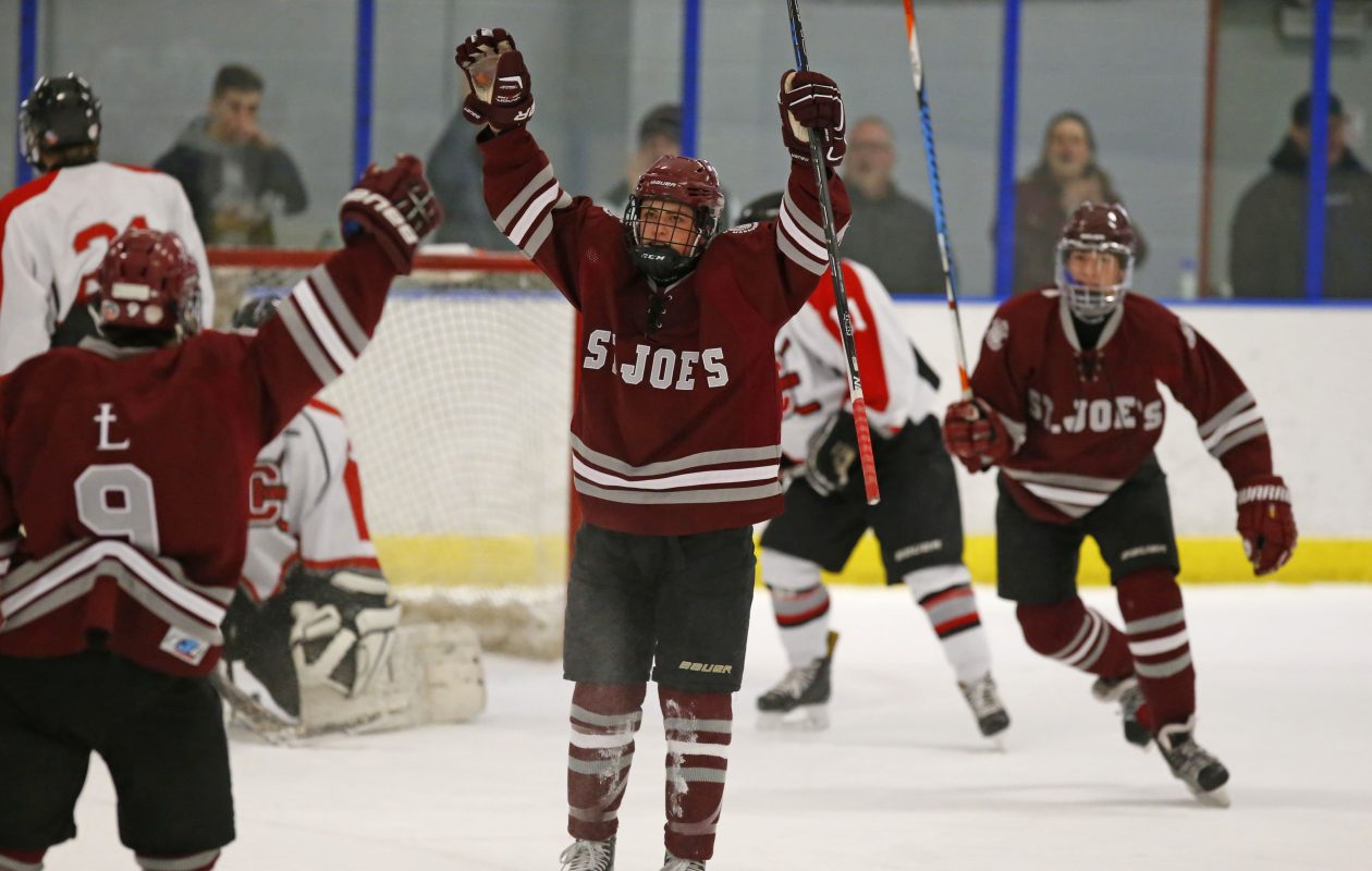 Mark Gilbert and the St. Joe's Marauders had a lot to celebrate during a championship season that included a 22-game unbeaten streak. (Harry Scull Jr./Buffalo News)