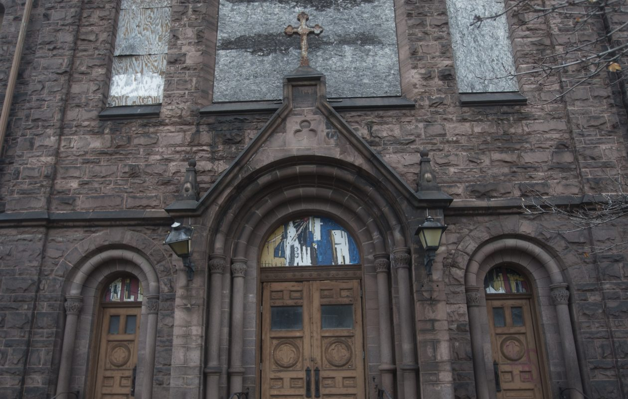 Our Lady of Lourdes at Main and Best streets in January. (John Hickey/Buffalo News file photo)