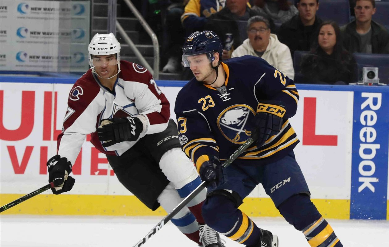 The Sabres have a solid group of right wingers, including Sam Reinhart. (James P. McCoy/Buffalo News)