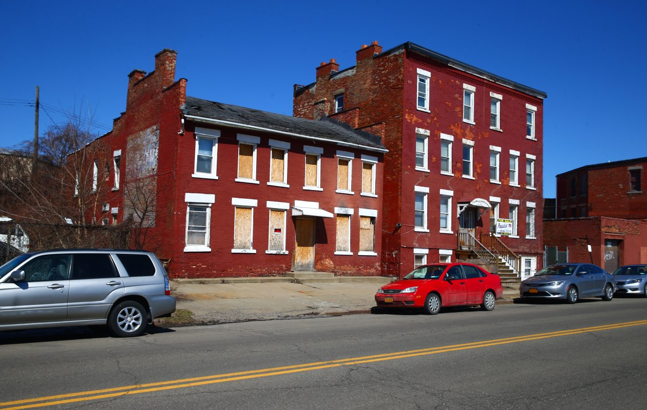 Rocco Termini purchased the buildings on Sycamore Street to save them from demolition. (John Hickey/Buffalo News)
