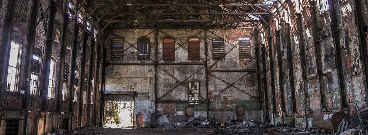 The blown engine house at Bethlehem Steel. (Derek Gee/Buffalo News)