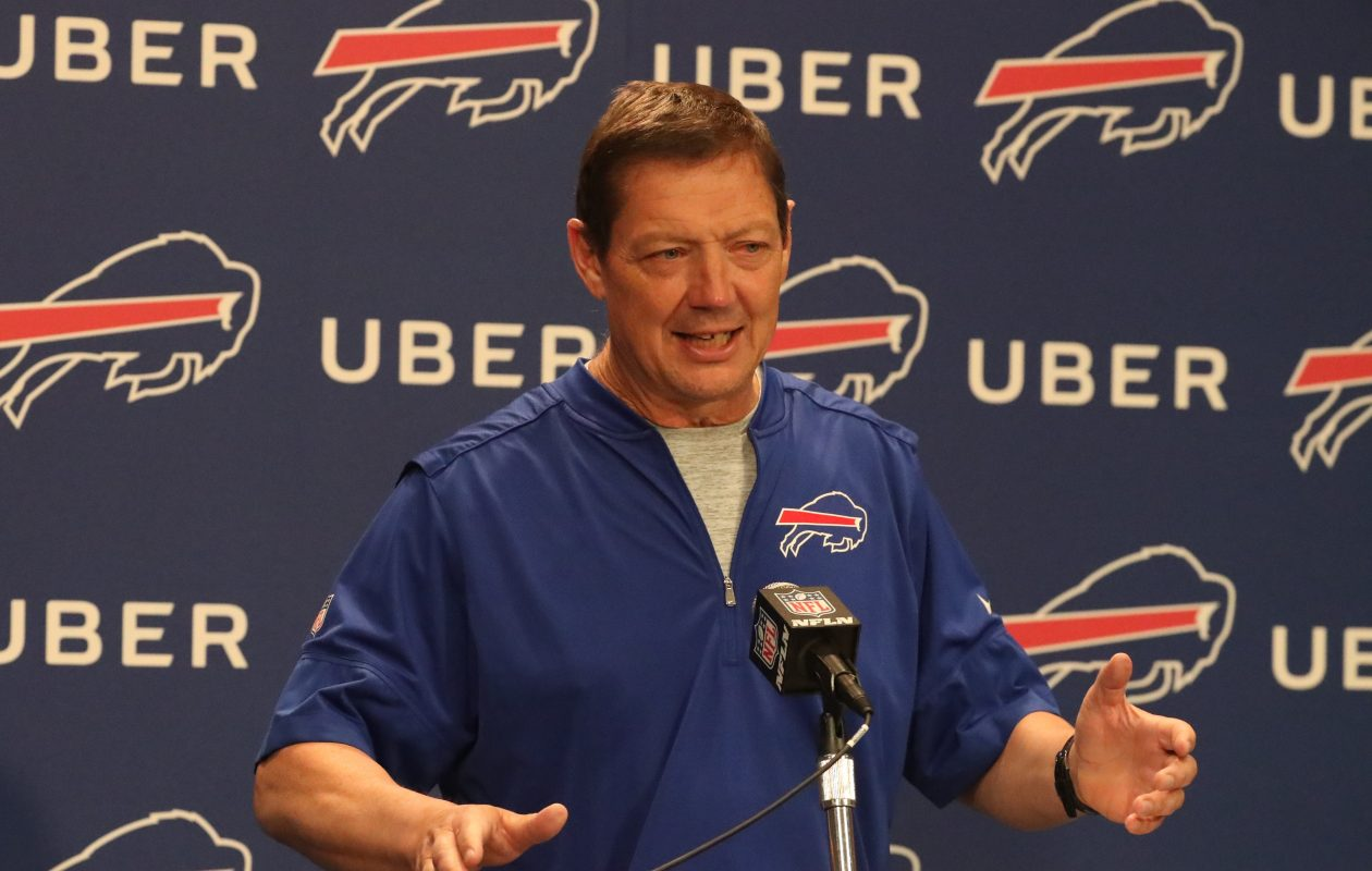 New Buffalo Bills offensive coordinator Rick Dennison was introduced to professional football when he attended training camp with the franchise in 1980.  (James P. McCoy/Buffalo News)