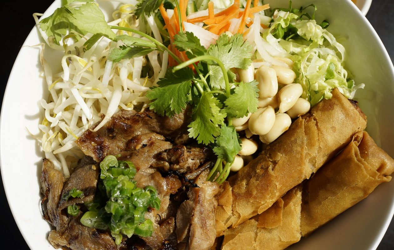 The bun thit nuong vermicelli at Saigon Bangkok on Buffalo Street in Hamburg. (Derek Gee/Buffalo News)