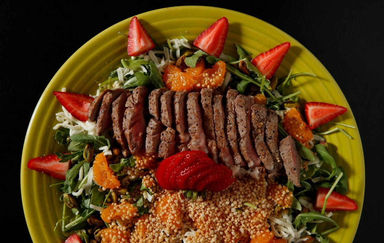 Poppyseed Restaurant's The Summer Fling is one of the creative and delicious salads highlighted in this month's Food Porn centerfold. (Sharon Cantillon/Buffalo News)