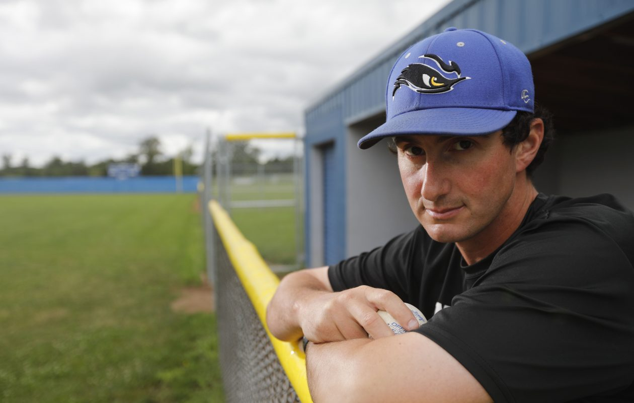 Matt Clingersmith has a  393-164-1 record as Niagara County Community College's head baseball coach, but the Thunderwolves weren't always at the top of their game. (Derek Gee/Buffalo News)