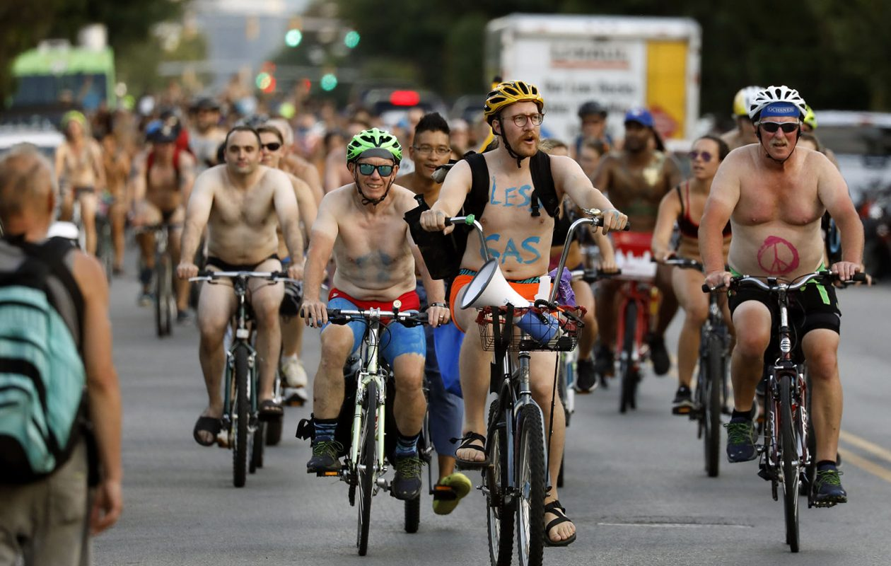 Nude men cycling naked ladies