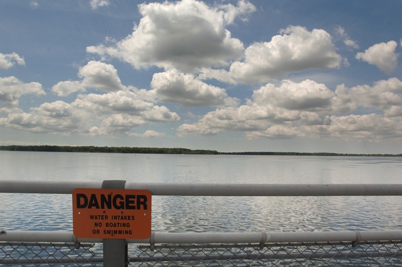 State Parks Police say jet skiers and boaters  continue to ignore warnings about the restricted area near the power intakes. (News file photo)