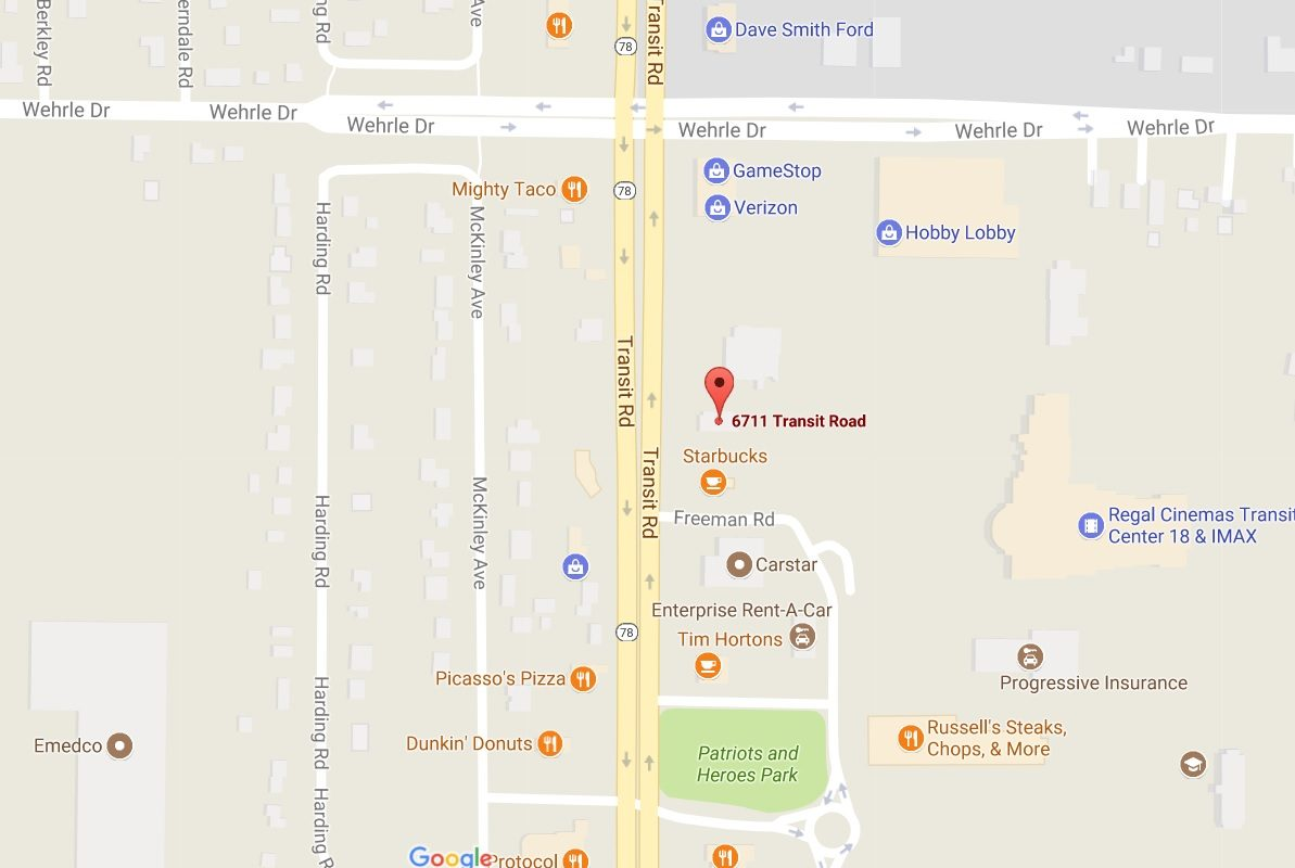 Carl Group Enterprises LLC bought the freestanding building at 6711 Transit Road. (Google Maps)