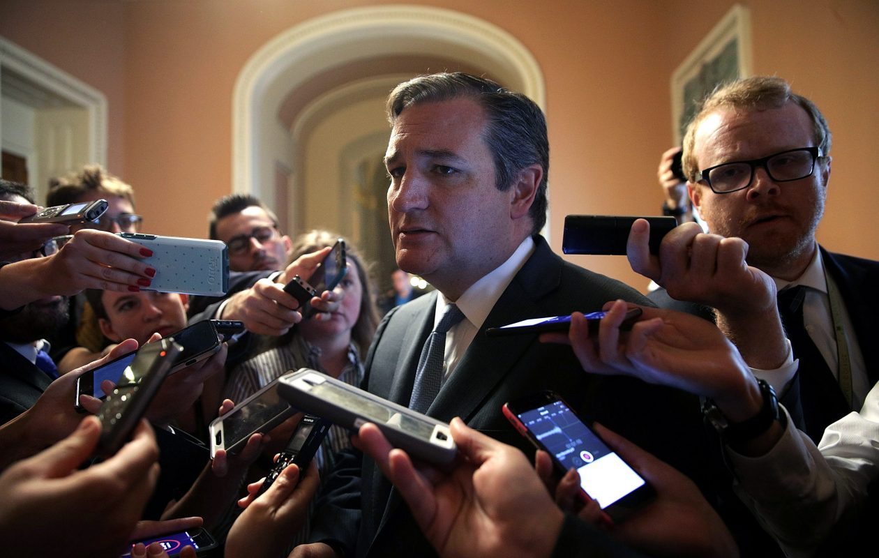 The revised Senate health plan includes a provision offered by    Sen. Ted Cruz (R-TX) , above, allowing the sale of bare-bones insurance policies with low premiums and gigantic deductibles. The provision would start 'a race to the bottom for coverage and consumer protection,'  said the president of the Healthcare Association of New York State.(Getty Images)