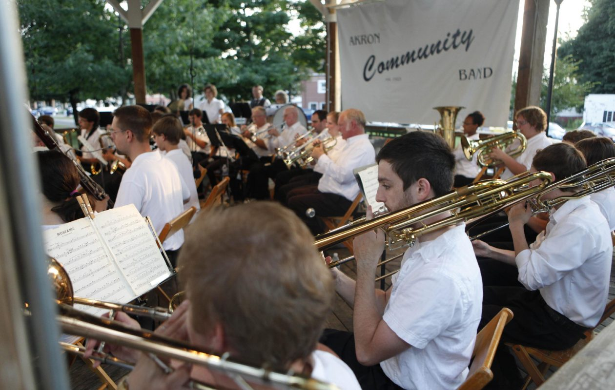 The Akron Community Band plays on July 29, 2011. (News file photo)