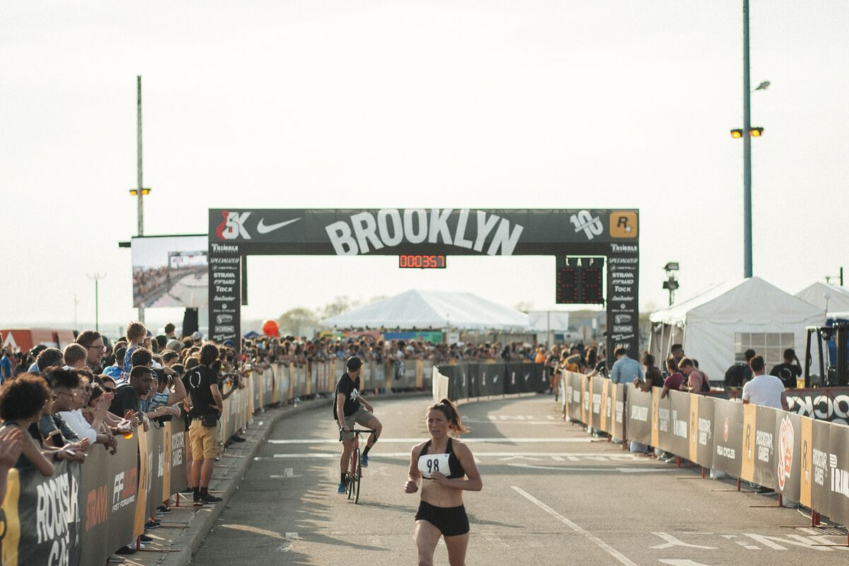Allie Kieffer, shown here at the end of a 2017 race in New York City, only needed one race in her new hometown to attract attention.