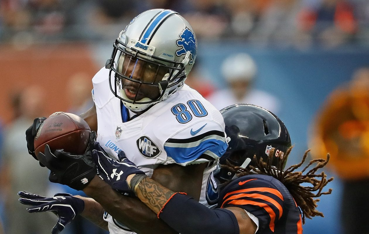 Free-agent receiver Anquan Boldin and three free-agent defensive linemen visited the Bills Monday.  (Photo by Jonathan Daniel/Getty Images)