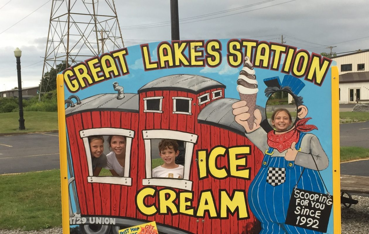 Great Lakes Station Ice Cream is celebrating 25 years of family fun this week. (Elizabeth Carey/Special to The News.)
